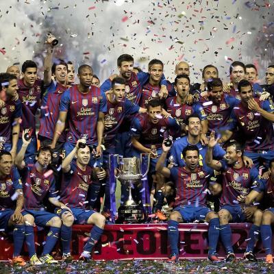 25MAYO2012 El Barça campeón de la Copa del Rey 2012. Foto: Agencia.