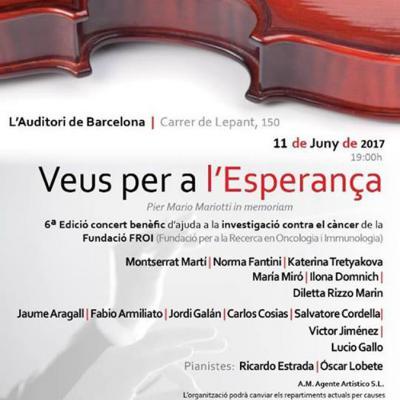 """08JUNIO2017 Sexta edición de """"Veus per a l'Esperança""""."""