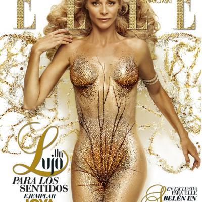 NOVIEMBRE2011  Diferentes portadas de la edición de lujo de la Revista ELLE del mes de diciembre. Belén  Rueda 2008.Foto: Piazza Comunicación.