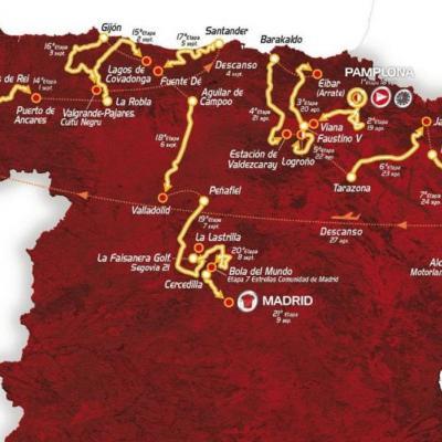 11ENERO2012 Presentación de la Vuelta a España 2012, en el Palacio de Congresos y Auditorio de Navarra en Pamplona. Foto: Agencia.