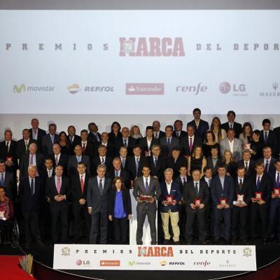 26NOVIEMBRE2013 Rafa Nadal recibió el premio La Leyenda: 75 años de MARCA.