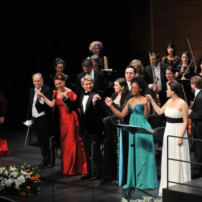 03ENERO2012 Bodas de oro de la soprano catalana, Montserrat Caballé, con una exposición y concierto en el Gran Teatre del Liceu de Barcelona. Foto: A.Bofill.