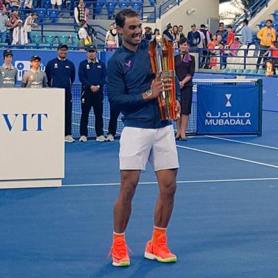 31DICIEMBRE2016 Rafa Nadal gana la octava edición del Mubadala World Tennis Championship. Foto: Mubadala World Tennis Championship.