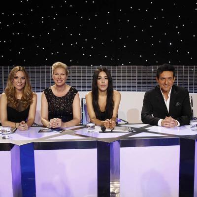 """30NOVIEMBRE2011 Gala 10 y final del concurso musical """"Tu cara me suena"""". El jurado.Foto: Antena 3."""