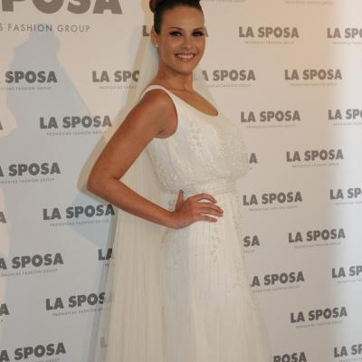 05MARZO2012. Presentación de la colección de Sposa 2013, en Barcelona. Jessica Bueno. Foto: Montse Carreño.
