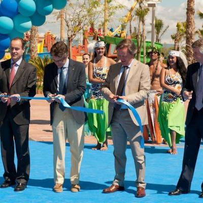 """17MAYO2013  Inauguración del tobogán más alto de Europa """"King Khajuna"""", en PortAventura. Foto: PortAventura."""