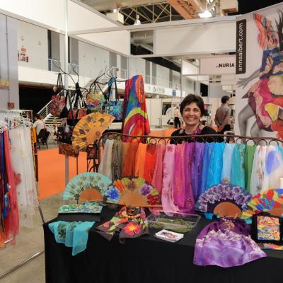 11-13ABRIL2013 Feria Eurobijoux & Mibi Barcelona. Art en Seda. Foto: Manel Martin.