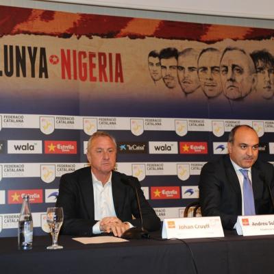 20DICIEMBRE2012 Presentación del equipo de Catalunya que jugará contra Nigeria. Foto: Manel Martin.