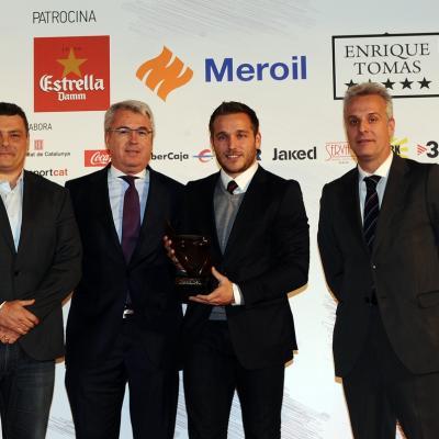 16DICIEMBRE2013 Campeones del 2013. Mejor equipo masculino, FC Barcelona de Handbol.  Foto: Manel Martin.