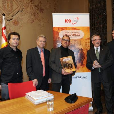 """19DICIEMBRE2011 Presentación del libro """"Volta"""" a Catalunya 1911-2011, un segle d'esport i país. Foto: Manel Martin."""