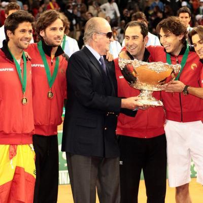 04DICIEMBRE2011 Final Copa Davis 2011 en La Cartuja de Sevilla. Triunfo del equipo español frente al argentino por 3-1. Foto: Brigitte Urban.