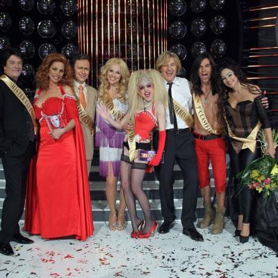"""30NOVIEMBRE2011 Gala 10 y final del concurso musical """"Tu cara me suena"""". Todos los concursantes.Foto: Antena 3."""