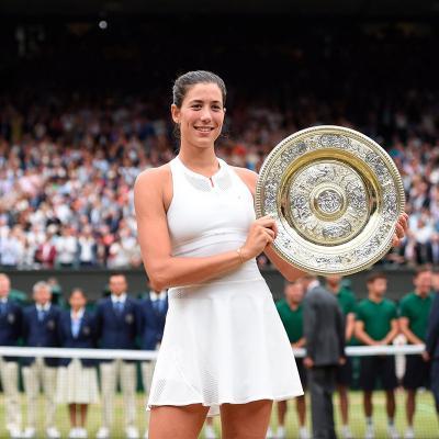 16JULIO2017 La reina de la pista de Wimbledon. Foto: Wimbledon.