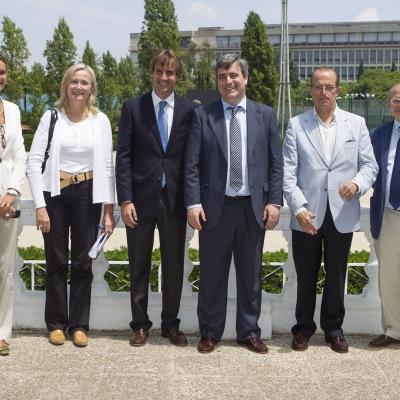 20JULIO2013 El presidente del Consejo Superior de Deportes, Miguel Cardenal, visitó las instalaciones del Real Club de Polo de Barcelona, sede de la Furusiyya FEI Nations Cup™ Jumping Final. Foto: RCPB.