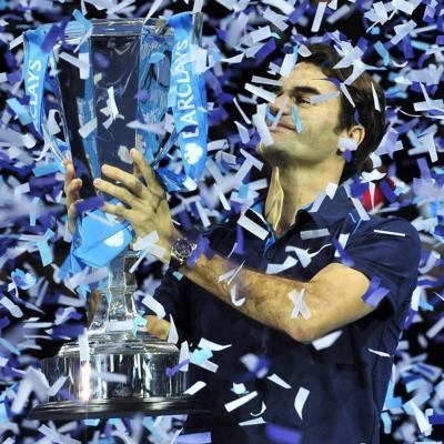 27NOVIEMBRE2011 Final del Masters de Londres de tenis. Ganado por Roger Federer al imponerse a Tsonga. Foto: Agencias.