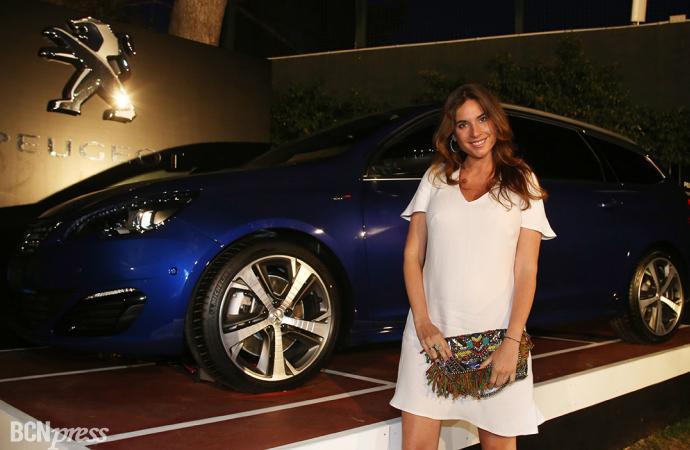 Lourdes Montes, embajadora en la fiesta Peugeot de tenis